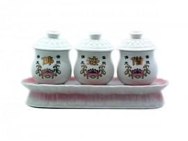 佛法僧圣水供杯陶瓷
