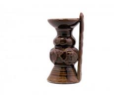 古铜色带扶手福灯 油灯烛台