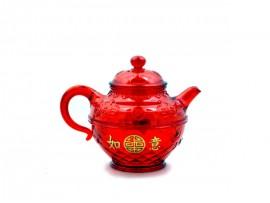 红水晶胶茶壶