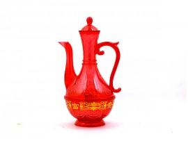 红水晶胶酒壶