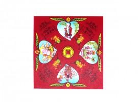 4寸寿桃四方贵人红纸
