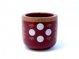 30头朱红四字陶瓷香炉(金玉满堂)