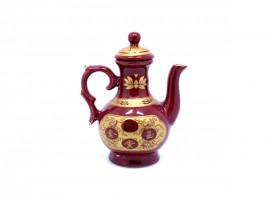 朱红陶瓷酒壶