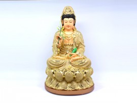 恭请观世音菩萨 金色 树脂工艺佛像