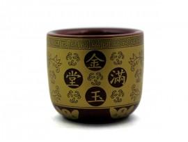 30头赤金四字陶瓷香炉(金玉满堂)